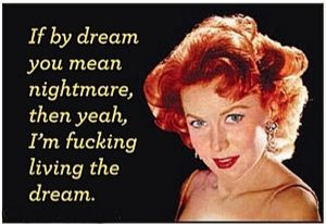 If By Dream You Mean Nightmare funny fridge magnet (ep)
